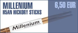 Millenium H5AN Hickory Sticks -Nylon-