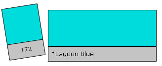 Lee Colour Filter 172 Lagoon Blue