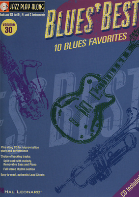 Hal Leonard Jazz Play Along Blues Best