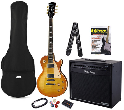 Harley Benton L450 Plus Honey Burst Set 4